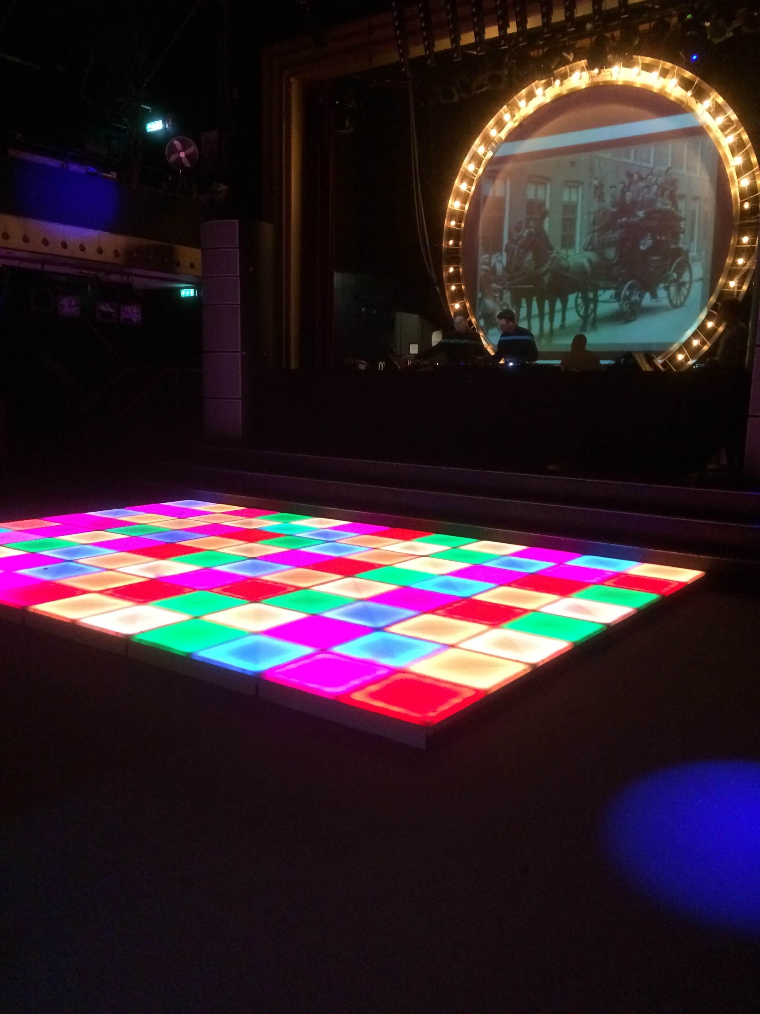 Verlichte LED Dansvloer RGB 1